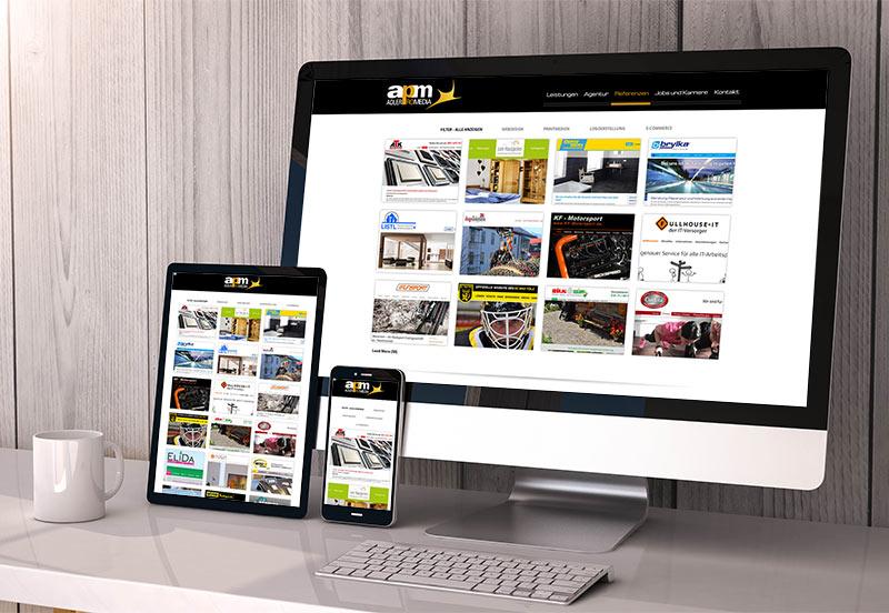 Responsive Webdesign zur optimalen Darstellung auf allen Endgeräten