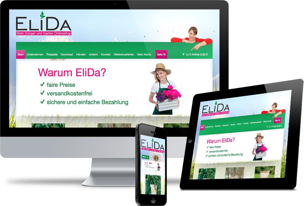 Elida Shop Referenzen